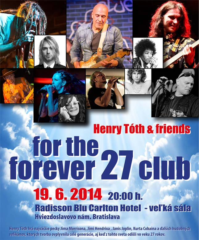 picture HENRY TÓTH uvádza: Koncert For The Forever 27 Club