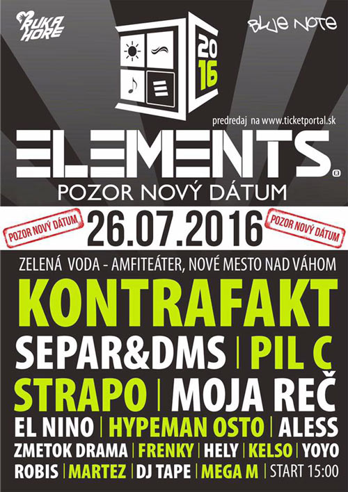 picture ELEMENTS - hip hop festival na Zelenej Vode