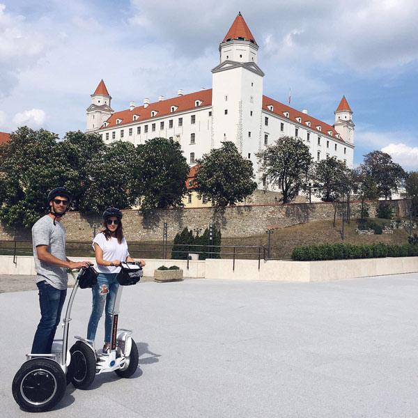 picture Segwayom po Bratislave