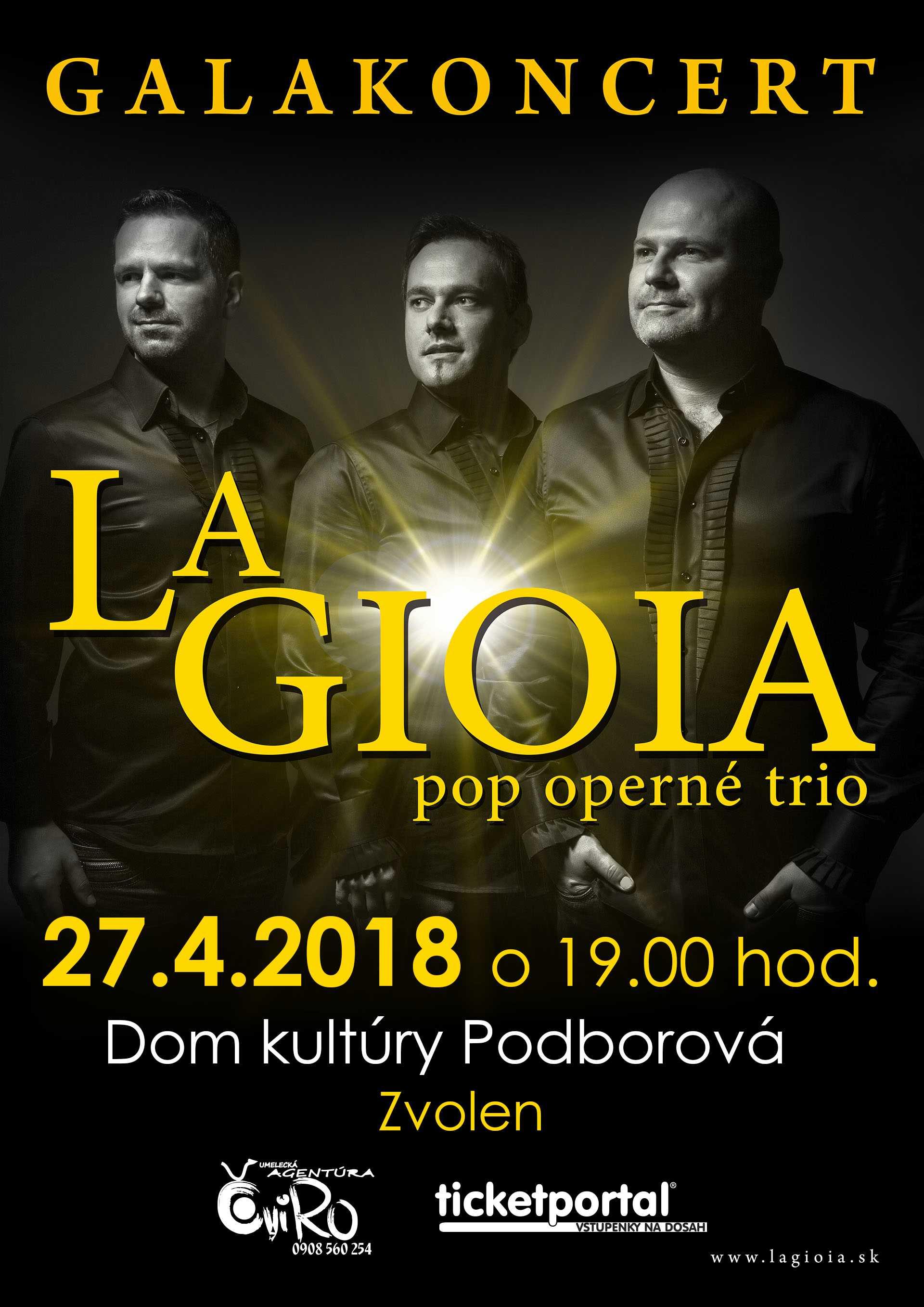 picture Galakoncert La GIOIA pop operné trio
