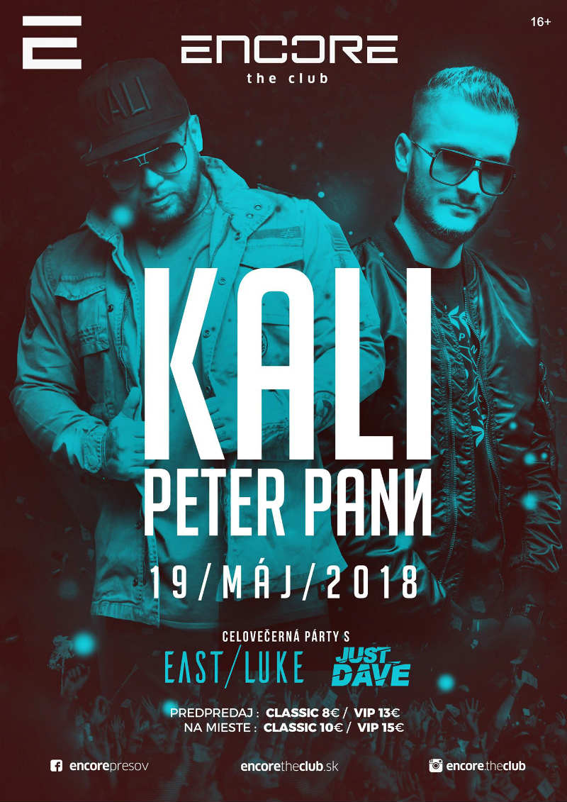 picture KALI & PETER PANN v Encore the Club