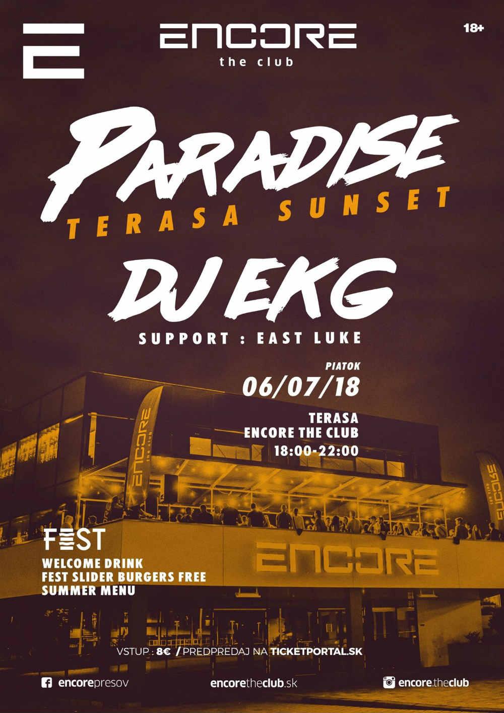 picture Paradise - terasa sunset - DJ EKG