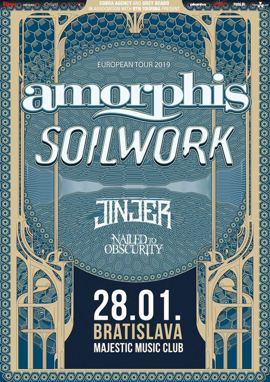 picture AMORPHIS (FIN) + SOILWORK (SWE) + JINJER (UA) ...