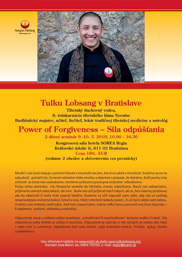 picture Tulku Lama Lobsang v Bratislave - Sila odpúšťania