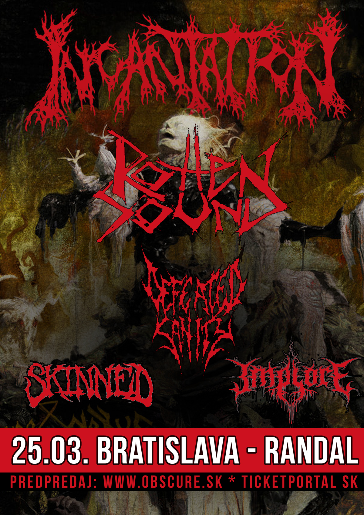 picture INCANTATION + ROTTEN SOUND + DEFEATED SANITY