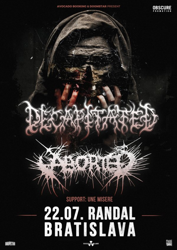 picture DECAPITATED (PL) + ABORTED (BEL) + Une Misere