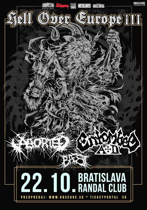 picture ENTOMBED A.D. (SWE) + ABORTED (BE) + BAEST (DNK)