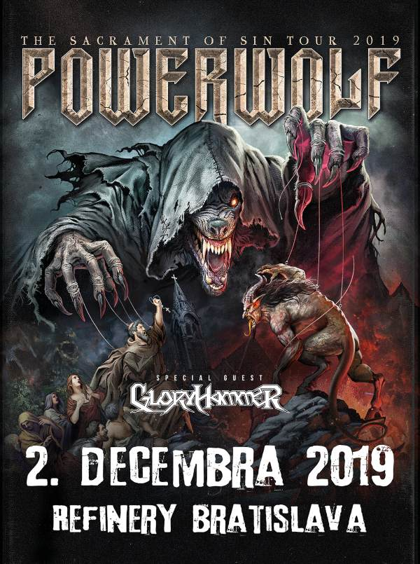 "picture POWERWOLF ""The Sacrament of Sin Tour"" /GLORYHAMMER"