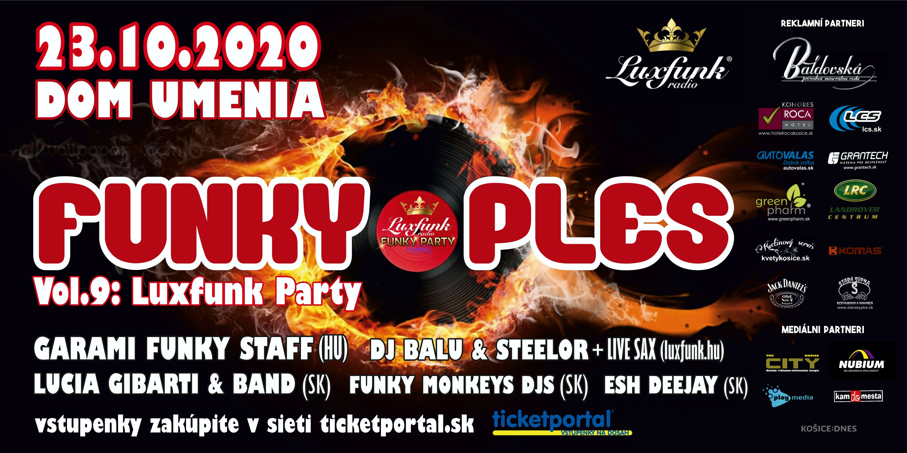 picture FUNKY PLES 2020 – vol.9: LUX-FUNK PARTY
