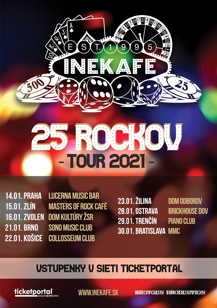 picture INEKAFE - 25 ROCKOV - TOUR 2021