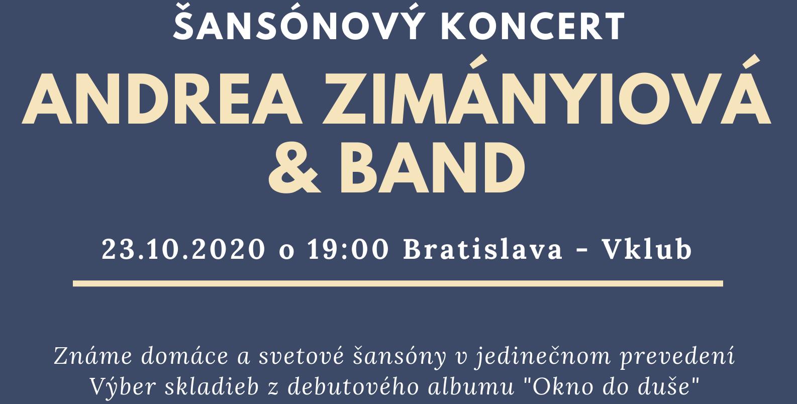 picture Andrea Zimányiová & Band - Šansónový koncert