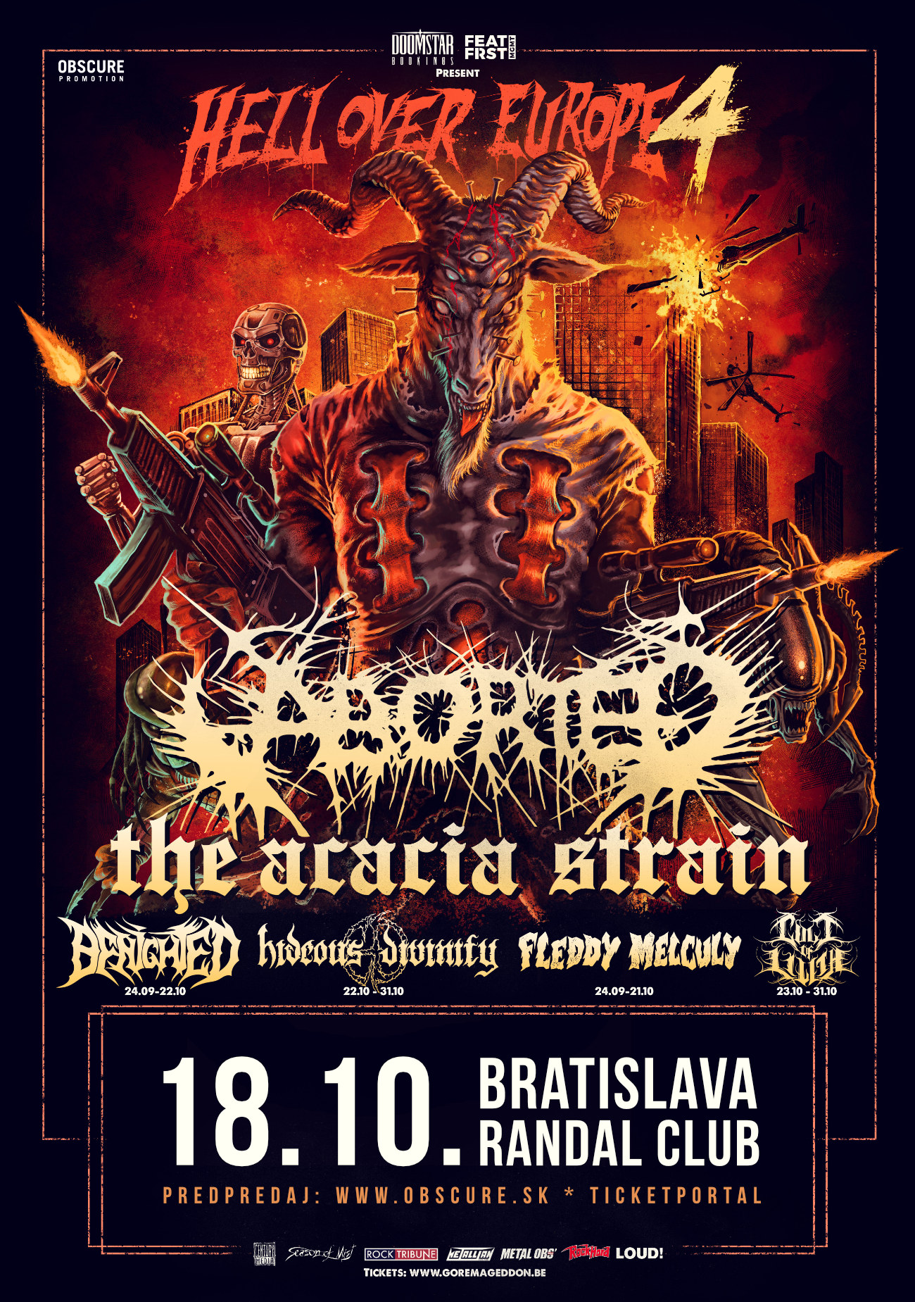 picture Hell Over Europe 4 - ABORTED, THE ACACIA STRAIN,