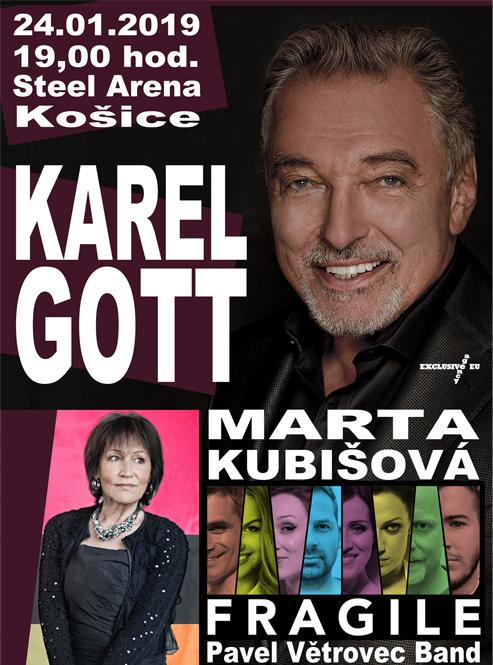 picture KAREL GOTT & MARTA KUBIŠOVÁ & FRAGILE