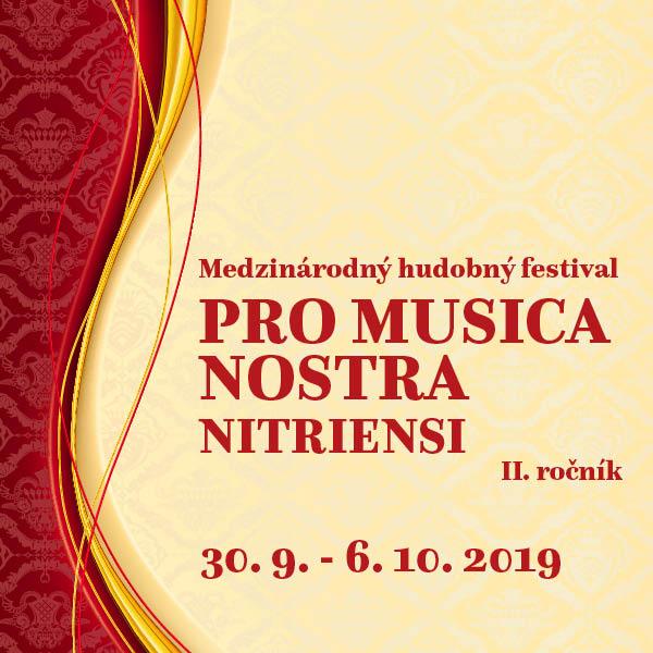 Pro musica nostra Nitriensi 2019