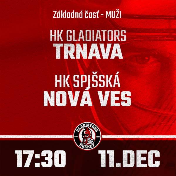 HK GLADIATORS Trnava - HK Spišská Nová Ves (1.HL)