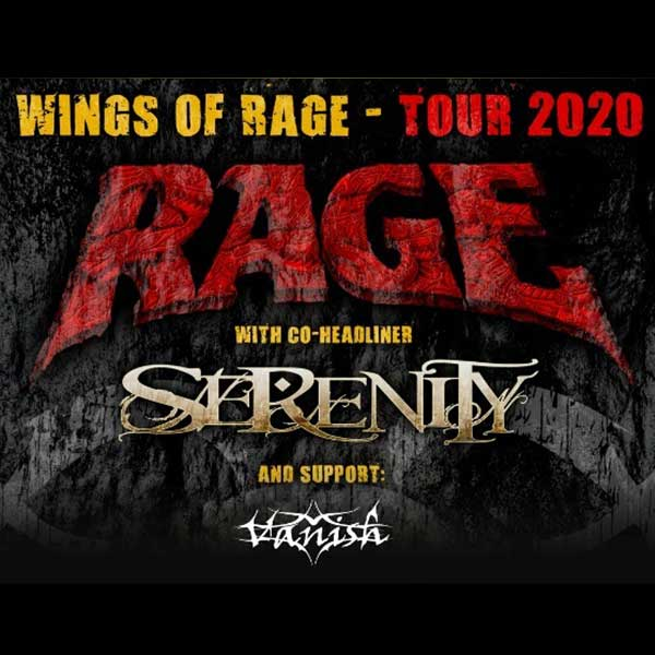 RAGE – Wings of Rage Tour-Hostia SERENITY + VANISH