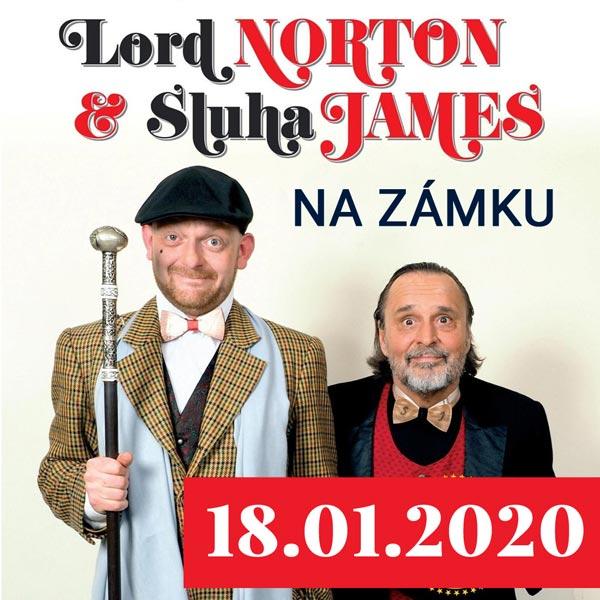 LORD NORTON A SLUHA JAMES na zámku