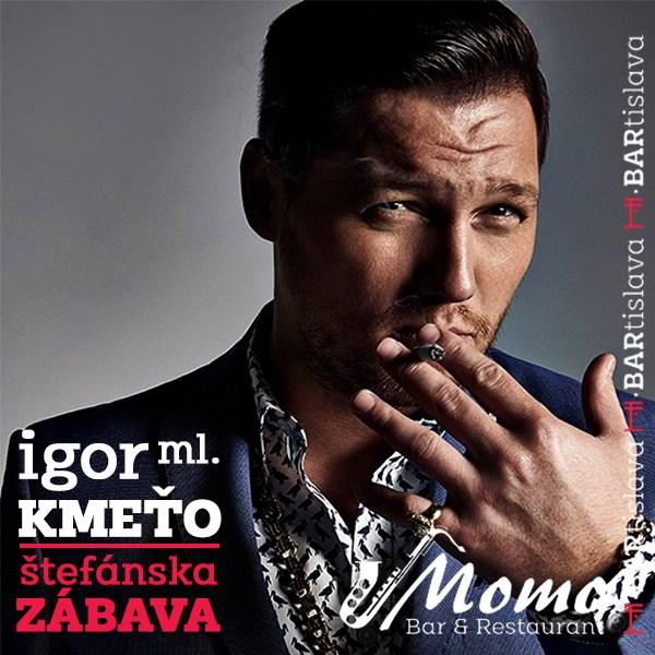 Štefánska zábava s Igorom Kmeťom ml. v Momo Bare