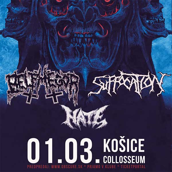 BELPHEGOR (AUT) + SUFFOCATION (USA) + HATE (PL)