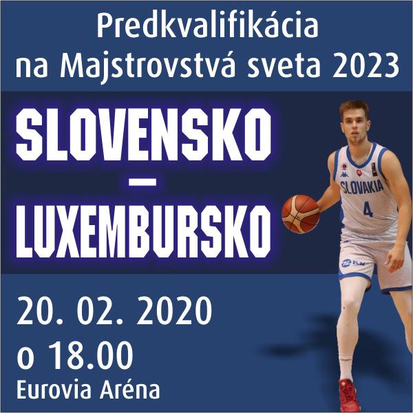 Slovensko - Luxembursko na MS 2023