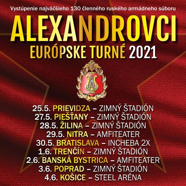 ALEXANDROVCI - EUROPEAN TOUR 2021