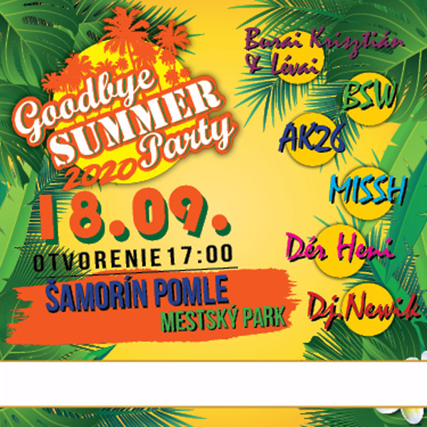 Goodbye Summer Party 2020