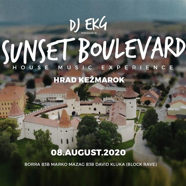 DJ EKG SUNSET BOULEVARD / HRAD KEŽMAROK /