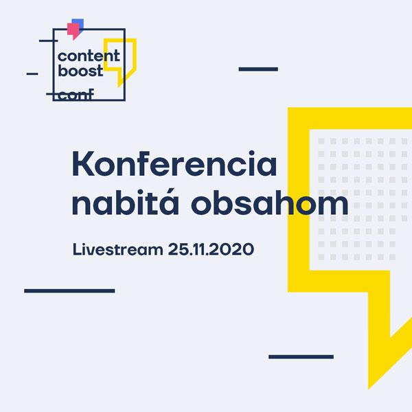 Contentboost - Online konferencia nabitá obsahom