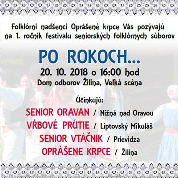 PO ROKOCH festival seniorských folklórnych súborov