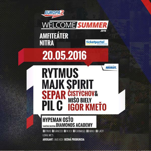 Europa 2 Welcome summer 2016