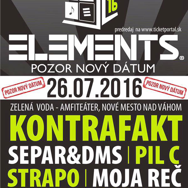 ELEMENTS - hip hop festival na Zelenej Vode