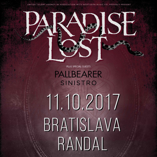 PARADISE LOST(UK) + PALLBEARER(USA) + SINISTRO(PT)