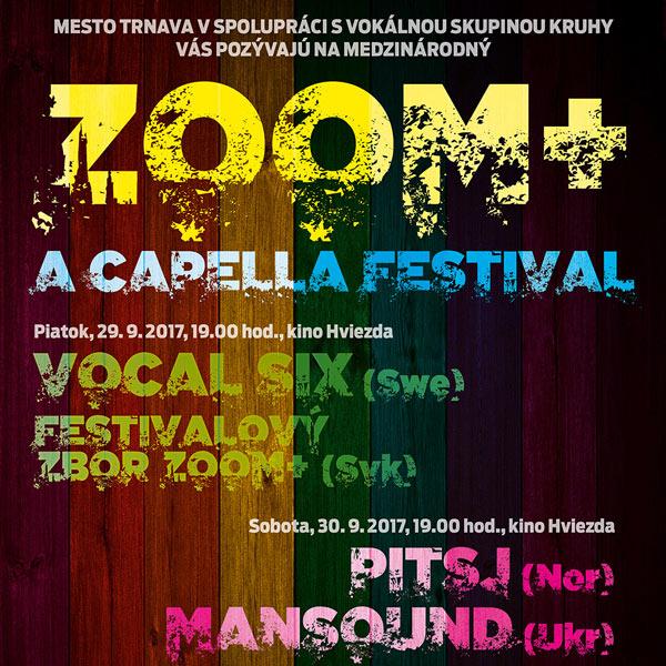 Medzinárodný a cappella festival ZooM+ 2017