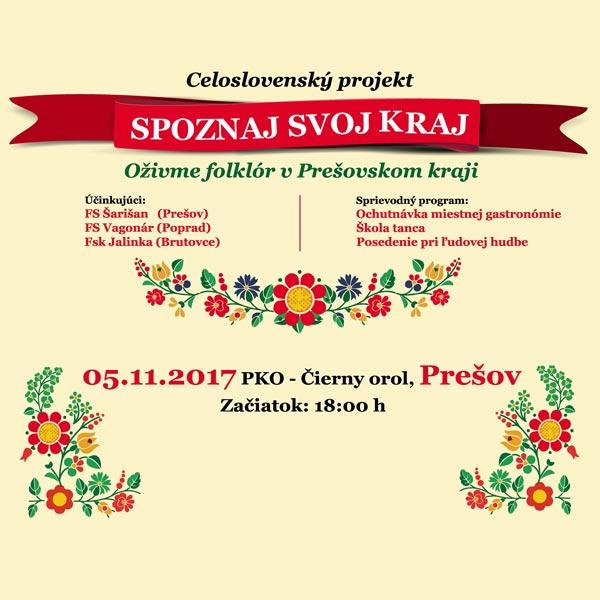 249794e90 Spoznaj svoj kraj - Oživme folklór v Prešov. kraji   TICKETPORTAL ...