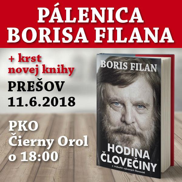 Pálenica Borisa Filana + krst Hodina človečiny