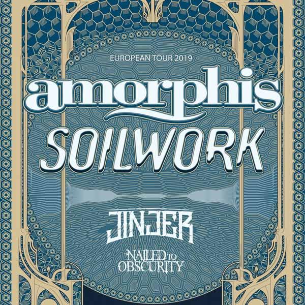 AMORPHIS (FIN) + SOILWORK (SWE) + JINJER (UA) ...
