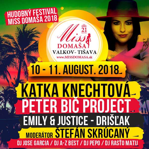 Hudobný Festival Miss Domaša 2018