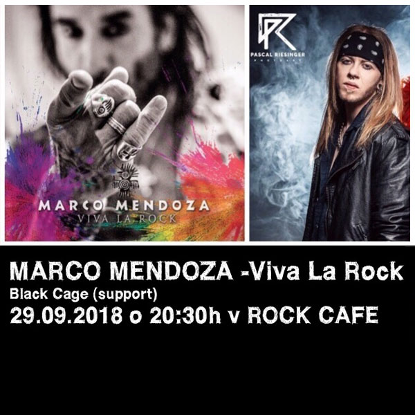 MARCO MENDOZA - VIVA LA ROCK TOUR v ROCK CAFE