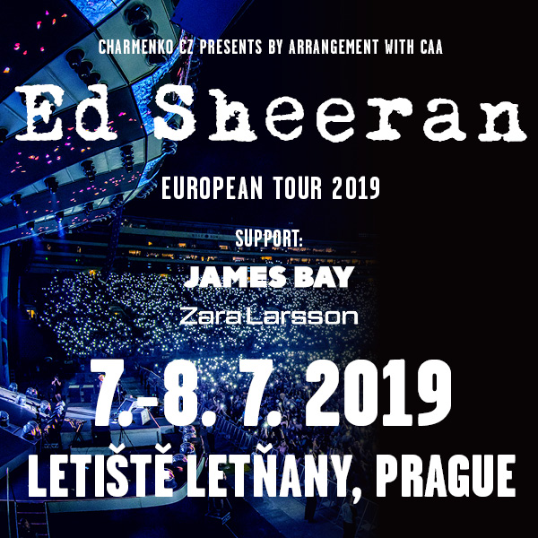 ED SHEERAN EUROPEAN TOUR 2019