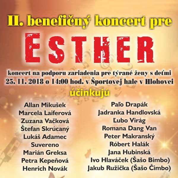 II. Benefičný koncert pre ESTHER
