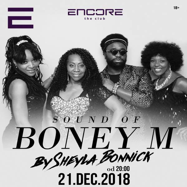 Sound of BONEY M v Encore the club