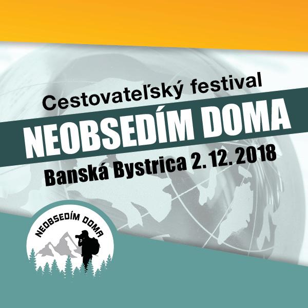 Cestovateľský festival NEOBSEDÍM DOMA