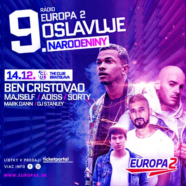 Rádio Europa 2 oslavuje 9. narodeniny