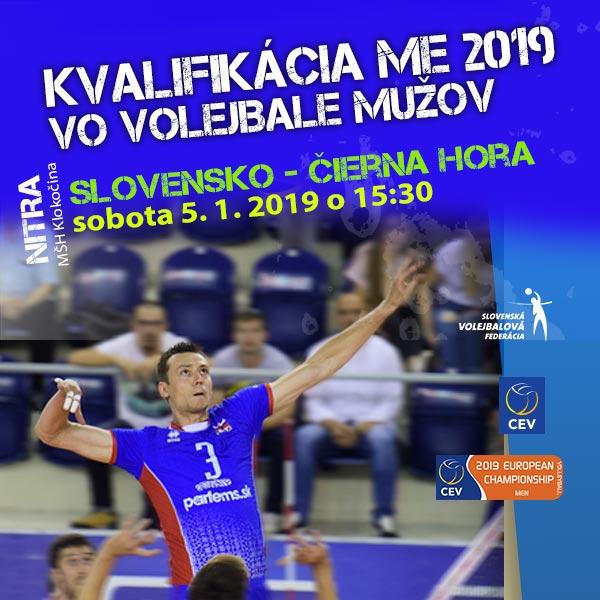 Kval. na ME 2019 volejbalistov Slovensko - Č. Hora