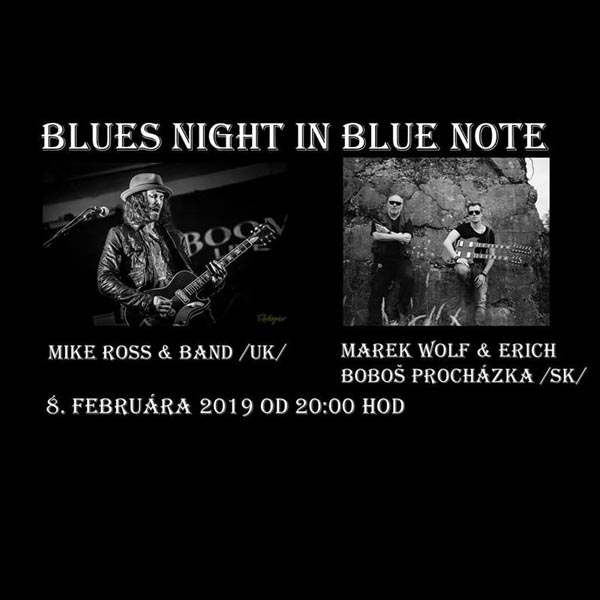 Blues Night-Mike Ross/UK/,M.Wolf&E.B.Procházka