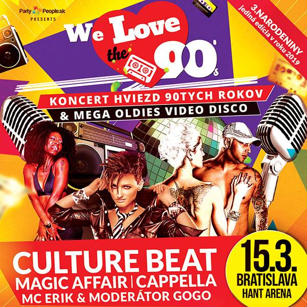 We Love 90- Culture Beat-Magic Affair-Cappella