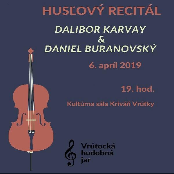 Husľový recitál – D. Karvay a D. Buranovský