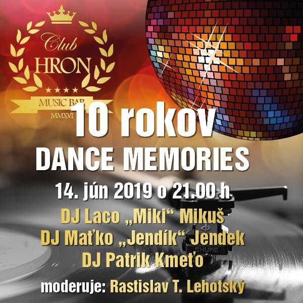 10 rokov DANCE MEMORIES