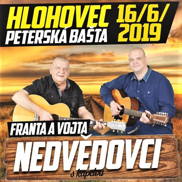Koncert Nedvědovcov s kapelou