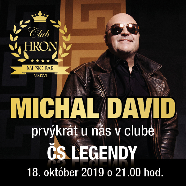 ČS LEGENDY – MICHAL DAVID